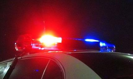flashing police car lights