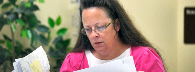 Kentucky marriage clerk Kim Davis