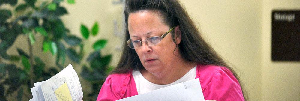 Kentucky marriage clerk Kim Davis