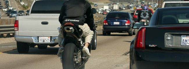 Lane-Splitting motorcyclist lawsuit