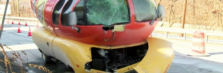 Oscar Mayer Wienermobile snow crash